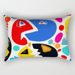 At the king's party abstract pattern kid art Rectangular Pillow