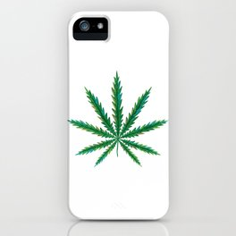 Marijuana. Cannabis leaf  iPhone Case