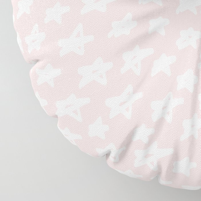 Stars on pink background Floor Pillow