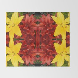"""A Gathering of Lilies"" Remix - 3 (2-1) [D4468~49] Throw Blanket"