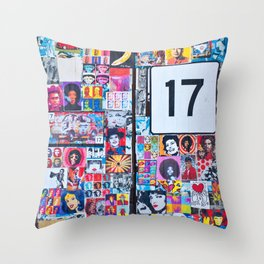 The Secret behind the Door Number 17 of Catania - Sicily Throw Pillow