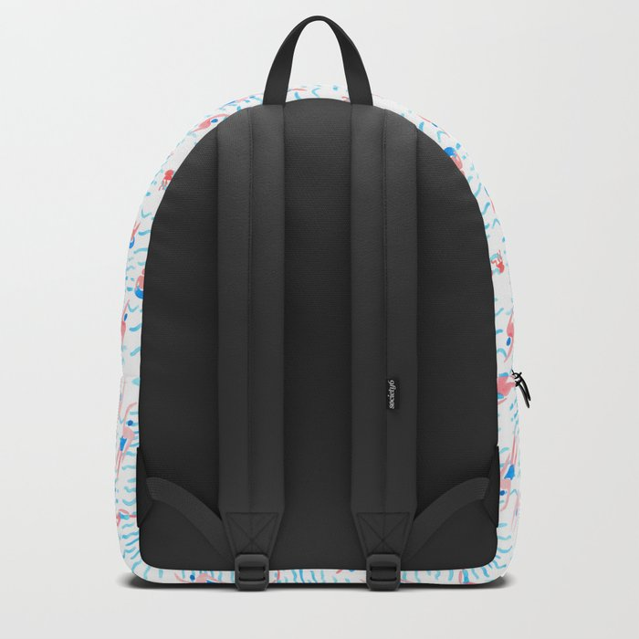 swimmers in the sea pattern Backpack
