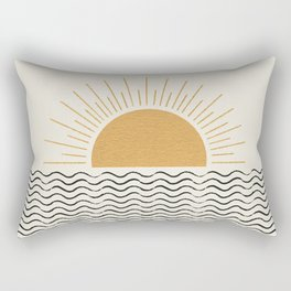 Sunrise Ocean -  Mid Century Modern Style Rectangular Pillow