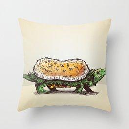 Burgerweek #3 The Turtleburger Throw Pillow