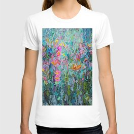 Mid July Meadow Flowers - #2 Painting by Olena Art T-shirt