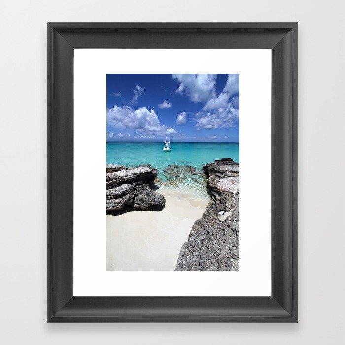 Yachting in Bimini Bay Framed Art Print