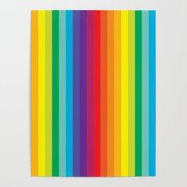Rainbow Stripes Poster