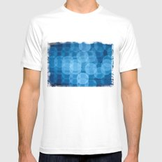 circles light blue White MEDIUM Mens Fitted Tee