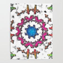 Alien Artefact Mandala Pattern Poster