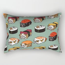 Sushi English Bulldog Rectangular Pillow