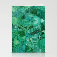 malachite Stationery Cards featuring Malachite Fusion by Kiss the Sky
