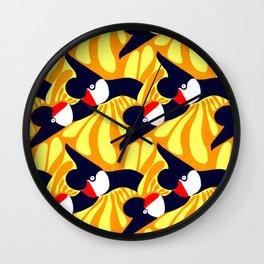 Sparrows by Roxanne Bartlett Wall Clock
