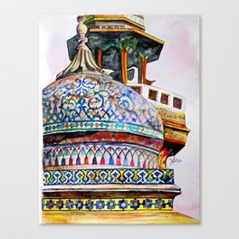 Dome of the Wazir Khan Mosque Canvas Print