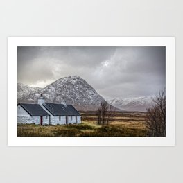 Black Rock Cottage  Glencoe Art Print