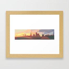 Providence Skyline Framed Art Print