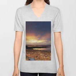Seaweed Beach Sunset Unisex V-Neck
