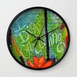 I DIG Gardening Wall Clock