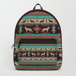 Boho dogs | German shepherd sunset Backpack