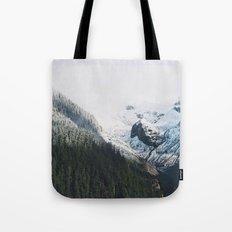 Mount Rainier Winter Valley Tote Bag
