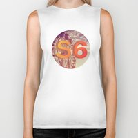 ferris wheel Biker Tanks featuring Ferris Wheel S6 Tee by Marina Design