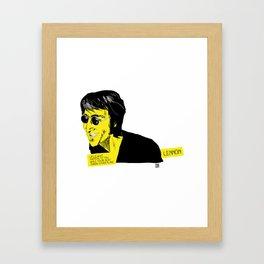 musicstrokes_lennon Framed Art Print