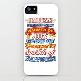Hanukkah Happiness Joy Prosperity Happiness iPhone Case
