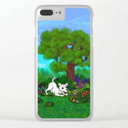 Easter - Spring-awakening - Puppy Capo and Butterfly Clear iPhone Case