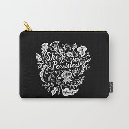 She Persisted in Bloom - black Carry-All Pouch