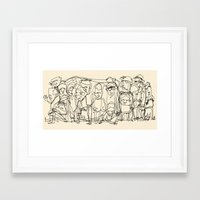 misfits Framed Art Prints featuring Misfits by 5wingerone