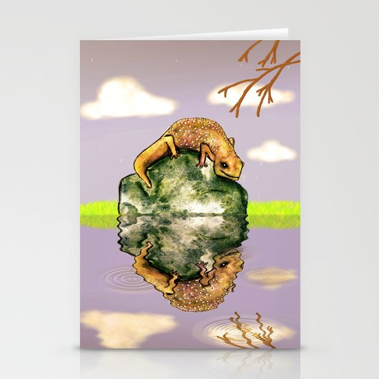 Reflect upon yourself on a rainy day  Stationery Cards