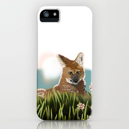 Maned Wolf at Sunset PNG iPhone Case