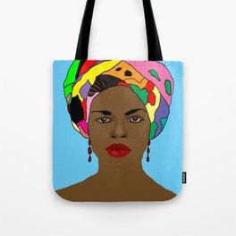 Colourful Head Scarf  Tote Bag