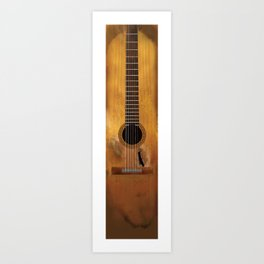 Willie Nelson's Trigger Guitar Art Print