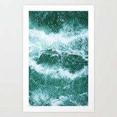 Restless Ocean Art Print