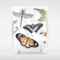 insects Shower Curtains featuring The insects by Polina Khoronko
