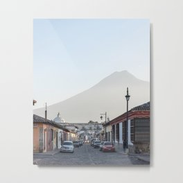 Street Views in Antigua, Guatemala Metal Print