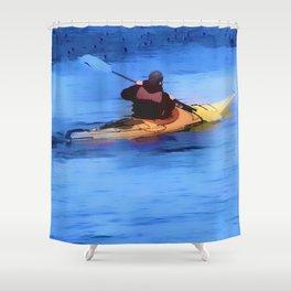 The Explorer    -   Kayaker Shower Curtain