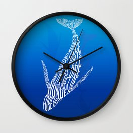 Whale song Wall Clock