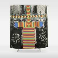 totem Shower Curtains featuring Totem by Naomi Vona