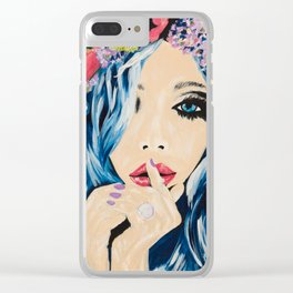 flowers in her hair Clear iPhone Case