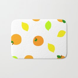 Citrus with Yellow, Orange and Green Oranges, Lemons and Limes Bath Mat