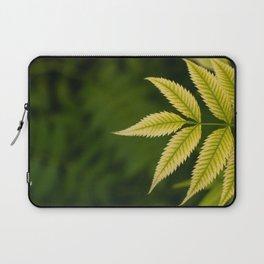 Plant Patterns - Leafy Greens Laptop Sleeve