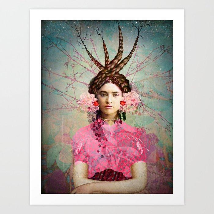 Portrait in Pastell Kunstdrucke