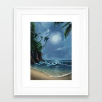 neverland Framed Art Prints featuring Neverland by CERRIX