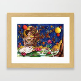 In love with a story Framed Art Print