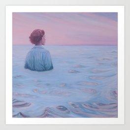 Her Steady Horizon - Sea Art Print