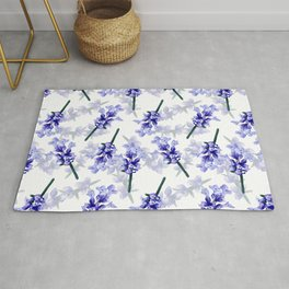 Hand painted lavender flower bloom Rug