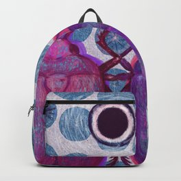 Two friendly bugs walking around Backpack