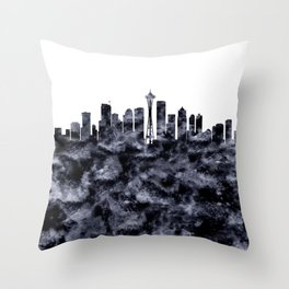 Seattle Skyline Washington Throw Pillow