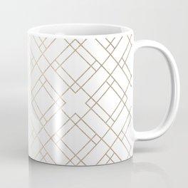Simply Mod Diamond White Gold Sands on White Coffee Mug